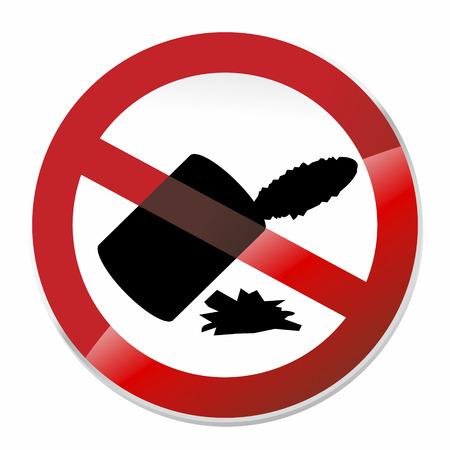 botar basura: ninguna se�al tirar basura rojo y blanco o pictograma Foto de archivo