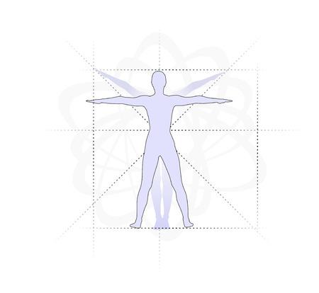 Figura Clásica Para Mostrar Las Proporciones Del Cuerpo Humano Fotos ...