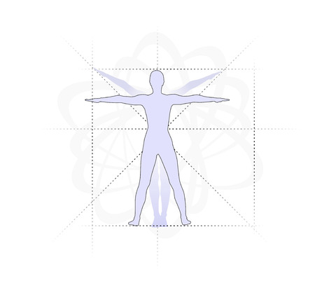 Study Of The Human Body With Proportions Stock Photo, Picture And ...