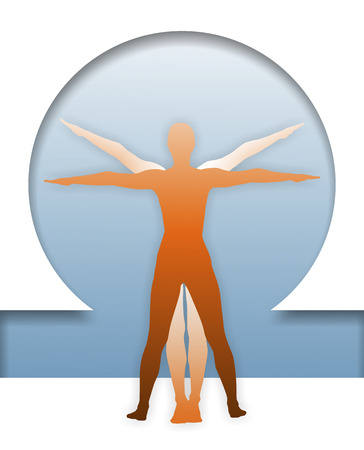 proportions of man: classic figure to display human body proportions
