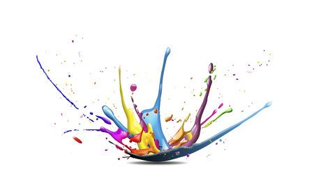 Illustrazione astratta di un esplosione di colori o di schizzi Archivio Fotografico - 38283289