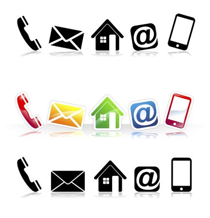 symbolen voor communicatiemiddelen en webdesign