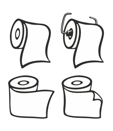 loo: set with different loo rolls as symbol