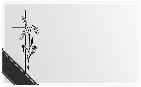 死亡または葬式に黒リボンのテンプレート 写真素材