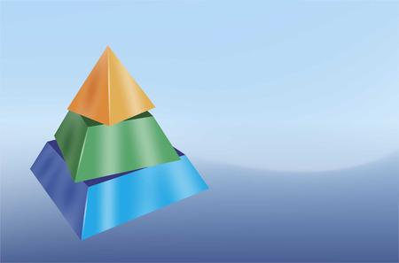 symbols  metaphors: cut, layered pyramid as a design template