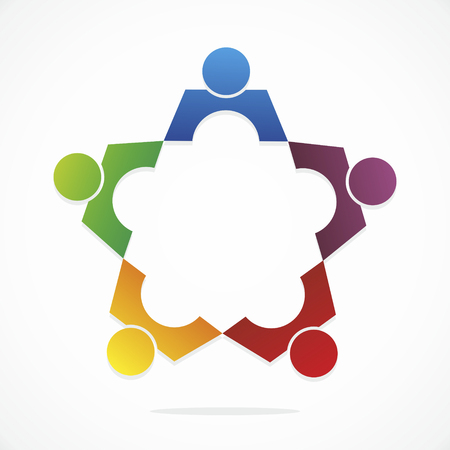 opinions: symbol for diversity different opinions meetings or therapies Stock Photo