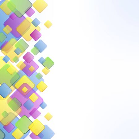 differently: a decorative template with differently colored squares
