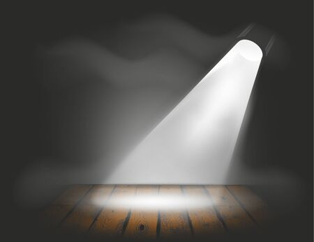 light source: dark stage with a single spot as light source