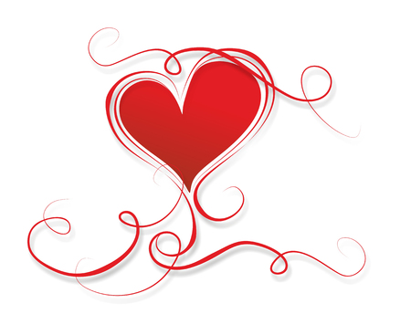 wedding heart: template for wedding or valentines day with heart Stock Photo