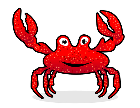 pincers: funny crab with pincers and pop eyes