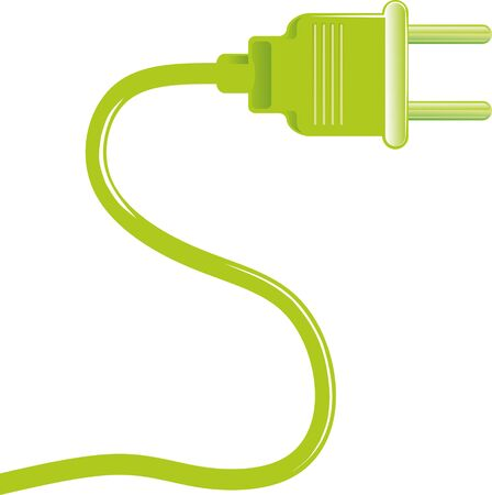 electrical appliances: illustration of a plug for electrical appliances