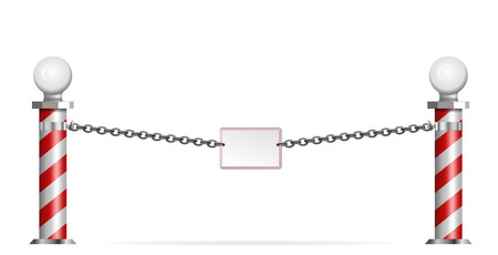 iron chain: decorative barrier with columns and iron chain