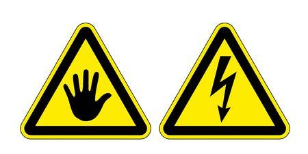 descarga electrica: dos se�ales de peligro, el riesgo de una descarga el�ctrica