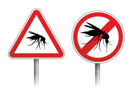 molesto: señal de peligro, el mosquito y otros insectos molestos