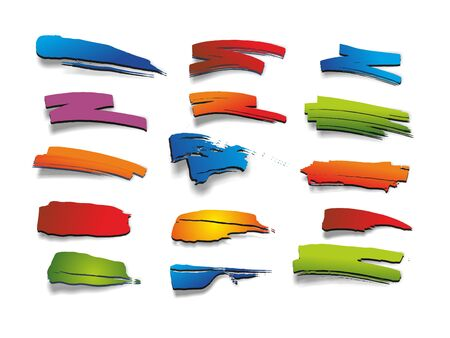 catchy: a set with many different colored marker Stock Photo