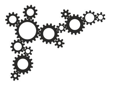 arranged: arranged gear wheels as a design template Stock Photo