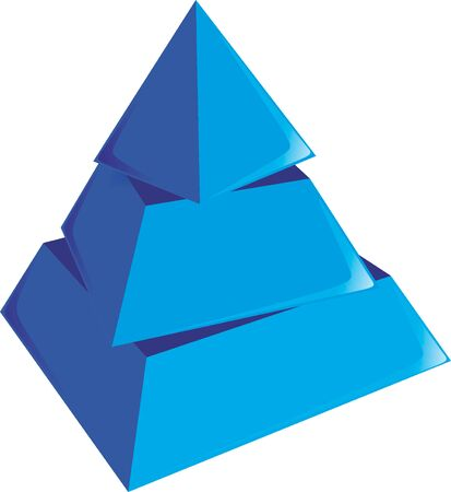 layers: pyramid with different layers as a symbol Stock Photo