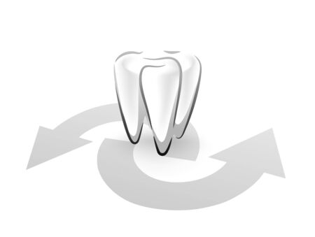 abstract tooth: abstract tooth symbol for a dental surgeon
