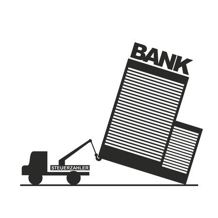 hauler: hauler tows ailing bank as a metaphor