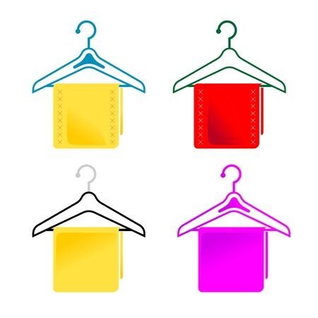 hangers: set with differently colored cloth on hangers