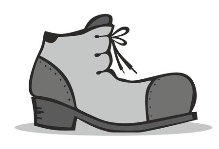 symbols  metaphors: simplified illustration of a boot from the side