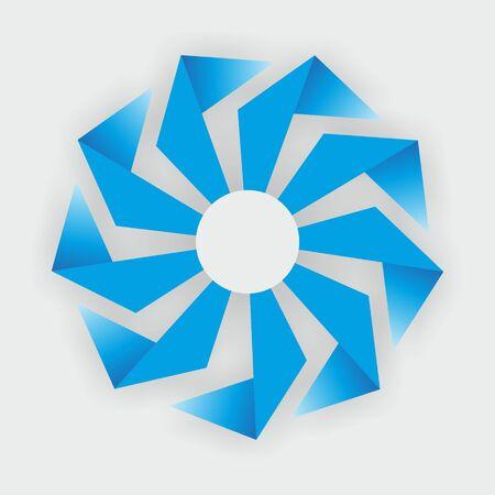propulsion: technical shape of a fan as a sign