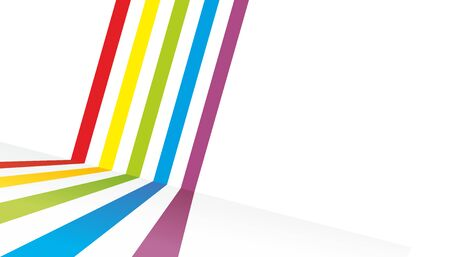 colorful stripes: decorative background made from many colorful stripes Stock Photo