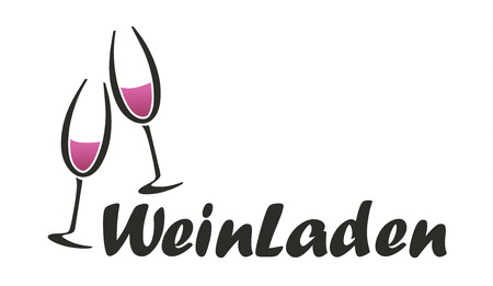 Abstract symbol for a German wine shop