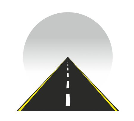 Template for a road that goes into horizon 版權商用圖片
