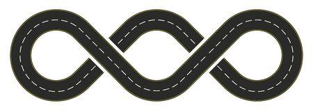 Infinity road design with a double loop 版權商用圖片