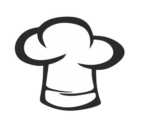 an abstract chef's hat as a template