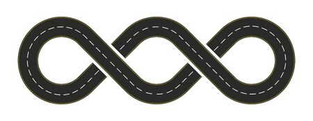 infinity road design with a double loop