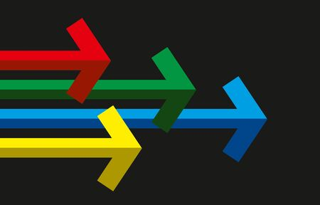 Abstract colored arrows as a sign template 版權商用圖片