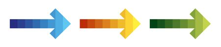 Abstract simple arrow with color gradient as a template