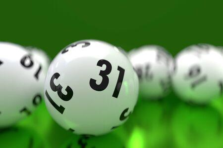 Resumen de bolas de lotería rodando dinámicamente