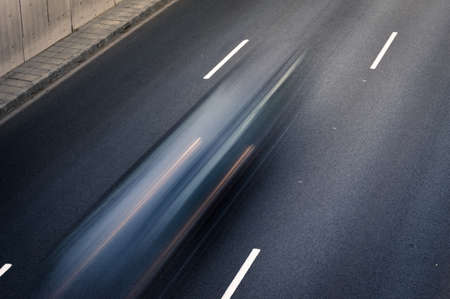 Abstract Speed motion in highway Stock Photo
