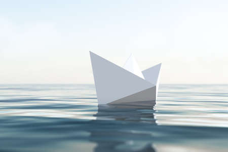 Paper boat Stock Photo - 16241213