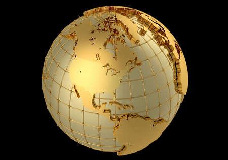 Gold globe Stock Photo - 17459445