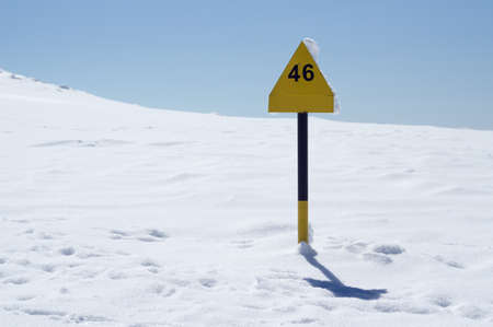 Winter Season - arrow sign photo