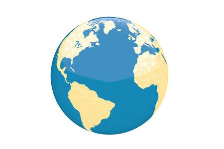 World globe - isolated Stock Photo - 20334508