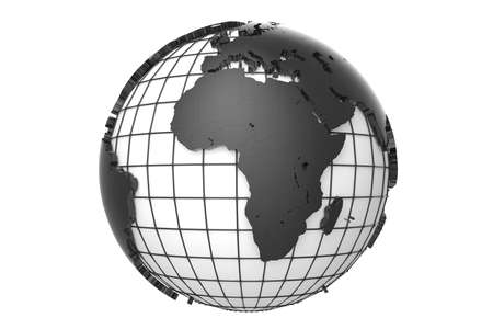 Globe-Africa with path Stock Photo - 20334512