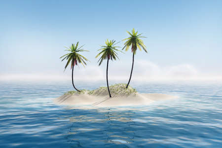 Tropical island Stock Photo - 20335252