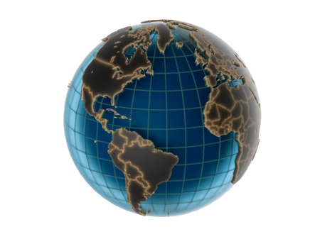 World globe - isolated Stock Photo - 20407655