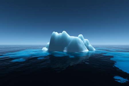 Iceberg in the nigh Stock Photo - 20908537