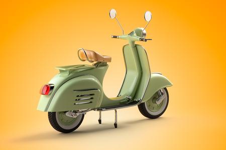 Retro scooter photo