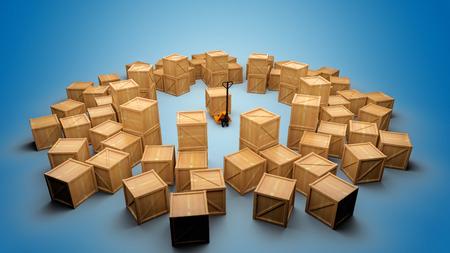 Cargo boxes Stock Photo