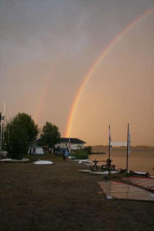 markermeer: rainbow Stock Photo