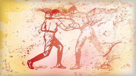 背景の図ボクシング 写真素材