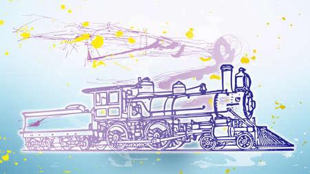 図の青と人間機関車