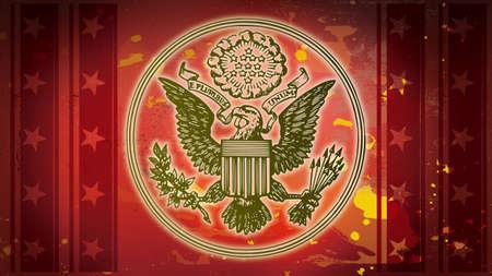 アメリカの愛国心が強い記号赤の歴史 写真素材
